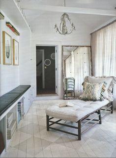 The Zhush: Missing Vogue Living Stenciled Floor, Vogue Living, Corner Designs, Eclectic Decor, Interior Inspiration, Sweet Home, Lounge, Flooring