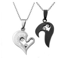 Get this couples necklace set as a gift (Birthday,Christmas,Anniversary,Valentines). It will be unforgettable!