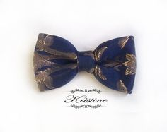 womens royal blue tapestry bow  womens tapestry by KristineBridal, $28.37
