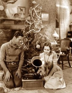 Santa's left music for Richard Arlen and Mary Brian in The Light of Western Stars (1930).