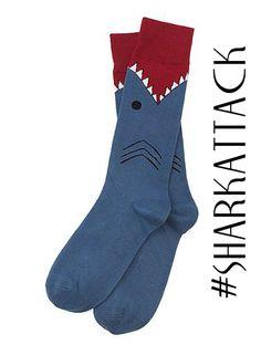 Sharrkattack Socks. Soo cool
