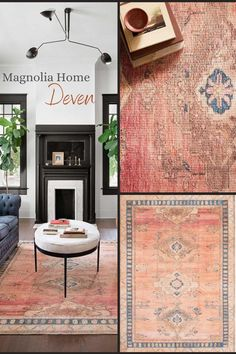 Magnolia Home by Joanna Gaines 'Deven' Collection! Available now at nwrugs.com! #livingroom #farmhouse #farmhousedecor #farmhousechic #magnoliahome #joannagaines #rust #sapphire #sunset Magnolia Home Rugs, Magnolia Homes, Farmhouse Chic, Joanna Gaines, Open Floor, All The Colors, Rust, Sapphire, Floor Plans