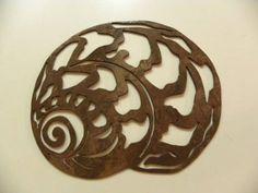 Amazon.com: Seashell Nautical Decor Metal Wall Art: Home & Kitchen
