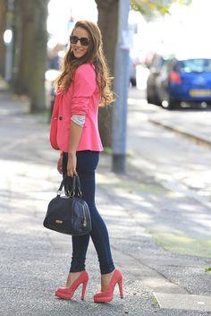 ♡ blazer jeans pumps bag
