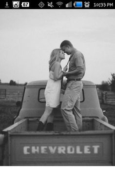 In the bed of my chevy