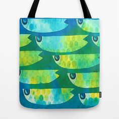 Spotted fish Tote Bag by ellen curgenven - $22.00