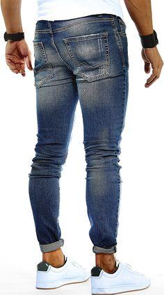 LEIF NELSON Herren Hose Jeans Stretch Jeanshose Freizeithose Denim Slim Fit LN9945BL; W30L32, Blau: Amazon.de: Bekleidung