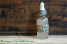 Homemade Face Moisturizer- all natural, only $.75 cents/2.5 ounce.  Makes the skin feel silky smooth! #softskin #facemoisturizer