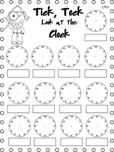 Telling Time Freebie...differentiate for homework