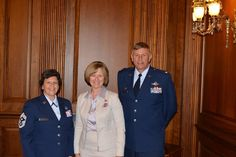 Honored to meet with Colonel Douglas Schwartz and Command Chief Master Sergeant Karen Perkins of Grissom Air Reserve Base
