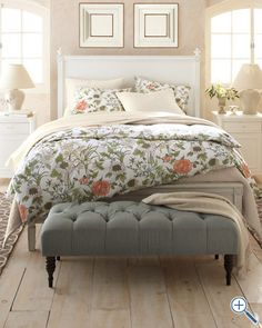 Signature Vintage Floral Flannel Bedding - sheet and pillow case... Mark wouldn't be thrilled with the WHOLE bed being this print. :)