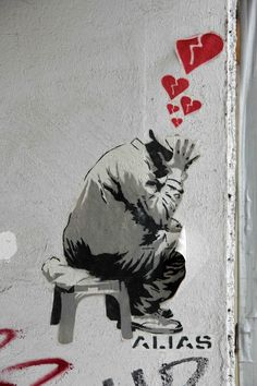 Owner Of A Broken Heart - Street Art by ALIAS in Berlin