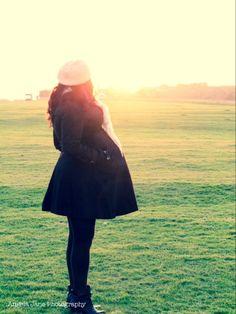 Winter sun, mum to be