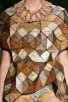 Ronaldo Fraga wood clothing