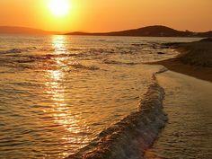 Sunset at Agia Anna beach,Naxos... #Greece #Europe #Travel #Hotels #Griechenland