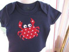 T-Shirts - Kinder Bio T-shirt ♥Krabbe♥ - ein Designerstück von DeDizzi bei DaWanda