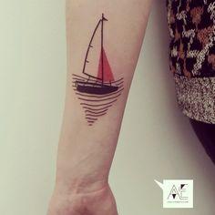 #axelesjmont #tattoo #boat #geometry #graphic