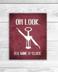 Oh Look. It's Wine O'Clock.