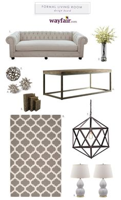 Formal Living Room Design Plan with Wayfair.com | The Blissful Bee