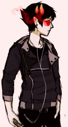 """twingeneticist: """" i saw these awesome jackets and thought sollux would wear one so """" Art by http://saccharinesylph.tumblr.com/"""