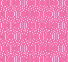 Pink Octagonal Geometric Background
