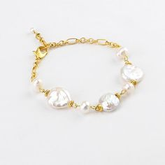Tri alternate pearl lobster claw bracelet. Great for gift giving www.christianlivingston.com