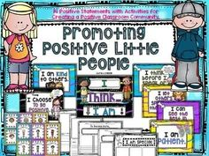 Promoting Positive People ~ Statement and ActivitiesEveryone wants a positive classroom community, but not everyone has one.  Since every class is different and every child is different, attaining this goal can be tricky.  As teachers and leaders of the community, our number one goal is to make sure that we are being a positive role model.