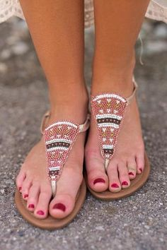 993e17f4448b24 Natalie Beaded Sandals (Gold) Sparkly Sandals
