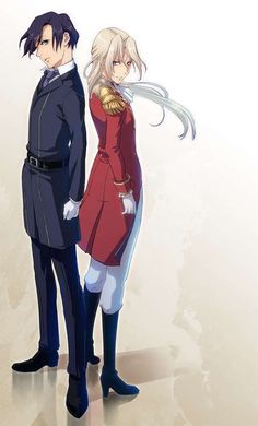 Milu and Naina Peacecraft (Zechs and Noin's twins), from New Mobile Report Gundam Wing: Frozen Teardrop