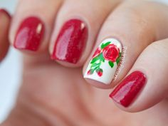 - Red Nails with Mod Lacquer Cherry Fizz. Joining the 31 days challenge this year again and we are starting with classy red nails. Red Nails, Hair And Nails, Galaxy Nails, Nailart, Girls Nails, Flower Nail Art, Accent Nails, Cute Nail Designs, Abstract Shapes