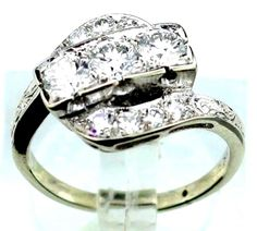14K White Gold 1.20ct TCW Diamond Cocktail Ring B41. #Unbranded #Cocktail