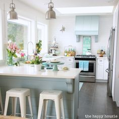 Coastal Cottage Style Spring Kitchen Tour