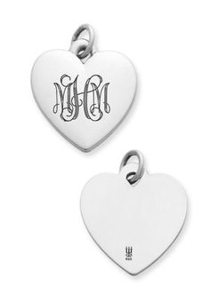 Obsessed with this!! james avery monogrammed heart (: