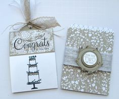 Wedding gift card treat bag