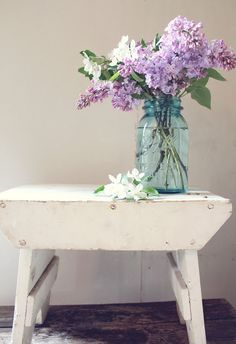 Itsy Bits and Pieces: A Little Spring Beauty...lilacs always remind me of spring on the farm as I was growing up!
