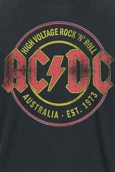 High Voltage - Rock 'N' Roll - Australia Est. 1973 High Voltage - Rock 'N' Roll - Australia Est. Rock And Roll, Pop Rock, Rock Posters, Rockband Logos, Anime Rock, Music Metal, Guns N' Roses, The Beatles, Hard Rock Music