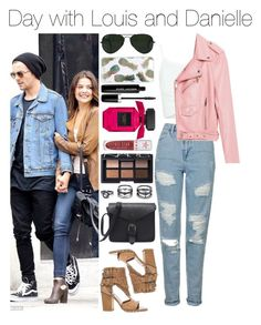 """Day with Louis and Danielle"" by xhoneymoonavenuex ❤ liked on Polyvore featuring Topshop, Piel Leather, Laurence Dacade, Ray-Ban, Sonix, LULUS, NARS Cosmetics, Jeffree Star and Marc Jacobs"