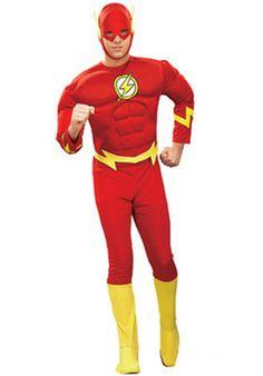 DC Comics Men's Flash Muscle Costume X-Large Size: Xl Color: Multicolored. DC Comics Men's Flash Muscle Costume X-Large Size: XL Multicolored Buy Costumes, Costume Shop, Costume Dress, Adult Costumes, Shrek Costume, Male Costumes, Flash Halloween Costume, Superhero Halloween, Adult Halloween