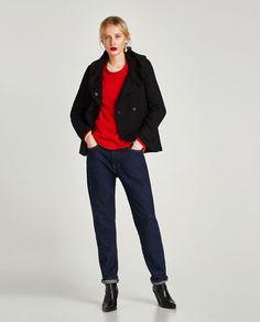 ee8b9400a8a1 ZARA - WOMAN - COAT WITH WRAP COLLAR Moda Zara