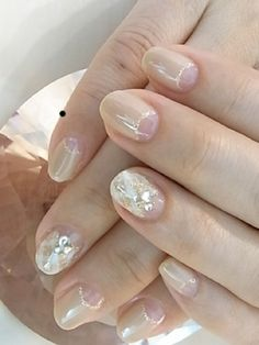 Appealing Nude Nail Polish Designs - http://nailarting.com/appealing-nude-nail-polish-designs/?Pinterest