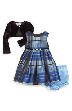 Pippa & Julie Metallic Plaid Sleeveless Dress & Jacket (Baby Girls) available at #Nordstrom