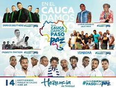 La marcha de este miércoles por la paz la terminaremos con un gran concierto #PasoAlaPaz #CaucaTerritorioDePaz