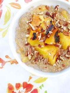 The Oatmeal Artist: Grilled Peach Steel-Cut Oatmeal