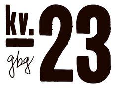 Kvarter 23, logo (concept, idea, branding, positioning, naming, graphic design, film, planning, pr, event, + a lot of hard work) www.kvarter23.se Logo Concept, Hard Work, Branding, Names, Positivity, Letters, Graphic Design, How To Plan, Film