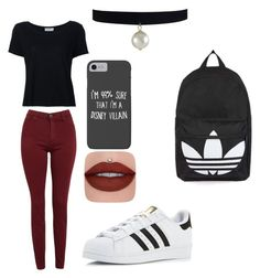 """""""Untitled #49"""" by aaylabb8 on Polyvore featuring Frame, AG Adriano Goldschmied, adidas, Disney and Topshop"""
