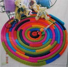 Grenchner regenbogen strickliesel teppich selfmade stricken pinterest - Strickliesel selber machen ...