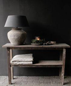 Oud houten side table