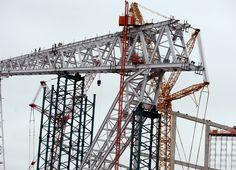 New Vikings stadium celebrates halfway mark in construction | Star Tribune