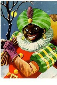Zwarte Piet Black Pete on a Full Moon Night Dutch Flemish Christmas Postcard Vintage Ephemera, Vintage Cards, Vintage Postcards, Dark Christmas, Father Christmas, Victorian Christmas, Bad Santa, Weird Vintage, Old Fashioned Christmas