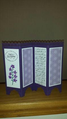 'Folding Screen'  Birthday Card.